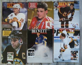 Vintage Hockey magazines, 1991 Hockey, Hockey gift, Brett Hull, Ray Bourque, Vintage Hockey, Pavel Bure, Eric Lindros, Trevor Linden, Hockey