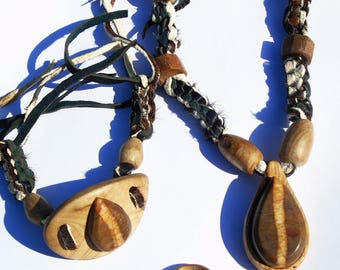 Set of Eucalyptus wood with stone of the Valley of the Mosel Germany
