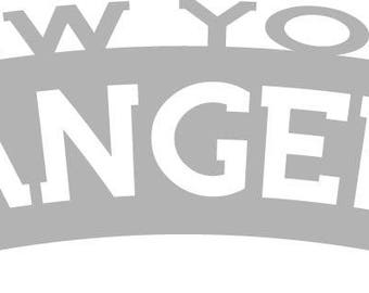New York Rangers Wordmark Decal
