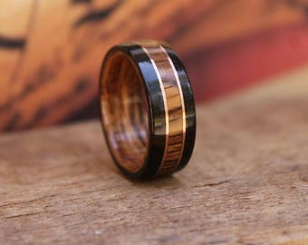 Honduran Rosewood Ring - Wooden Wedding Ring Bentwood ring Mens Wooden RIngs Woman's ring Wood Engagement Ring Wood Anniversary