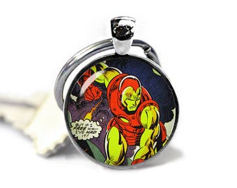 Iron Man Keychain Iron Man Keyfob Iron Man Keychain Superheroes Fandom Jewelry