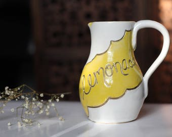 I AINT SORRY // beyonce lemonade, lemonade pitcher, ceramic pitcher, feminists gifts, gifts for woc, gift for best friend, feminist decor,