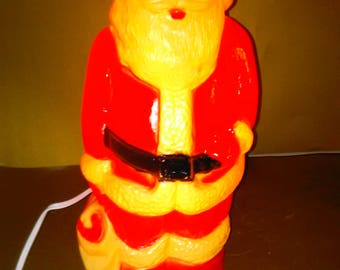 Vintage Christmas Blow Molds Vintage Union Products Light Chinese Eye Santa MP1*******1950's-1960's*****
