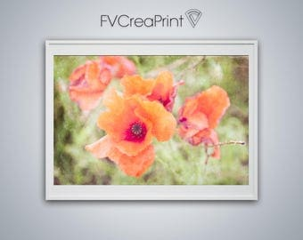 Poppies photo to be downloaded, beautiful image poppies, photo to be printed, photo for girl, flower wall art, house decoration, nature art