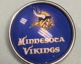 New Vikings Snap - Fits all 18mm Interchangeable Snap Jewelry