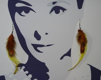 These earrings my chinchilla feather