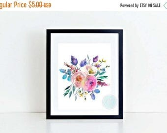 25% OFF SALE- PRINTABLE Art Watercolour Art Floral Wall Art Watercolor Floral Print Watercolor Flowers Watercolor Printable Pastel Decor Dig