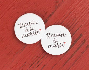 2 badges wedding maid of honor + best man