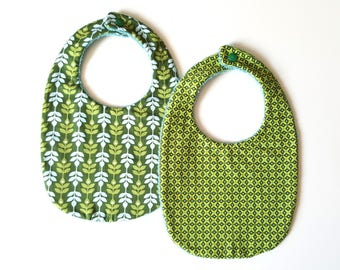Bibs Greens and blues set of 2