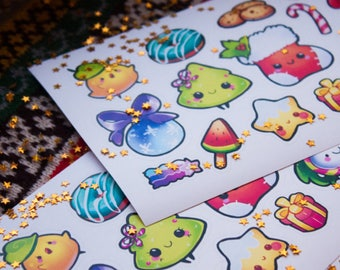 Christmas & New Year vinyl stickers #28