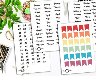 Monthly Planner Stickers, Planner Stickers Kit, Planner Stickers Set, Planner Stickers, Bullet Journal Stickers