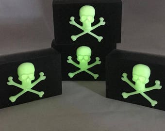 Handmade Jolly Roger Glow In The Dark Pirate Soap