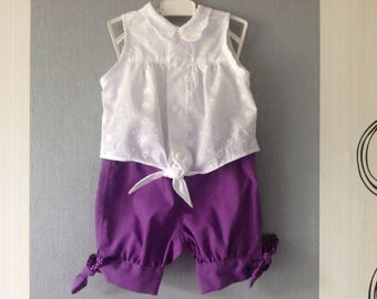 Girls' short and tunic set Or sold separately