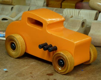 Wooden Toy Car, Hot Rod Freaky Ford, 32 Deuce Coupe, Little Deuce Coupe, Roadster, 1932 Ford, Race Car, Street Rod, Speedster. Dragster