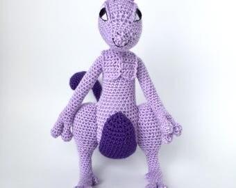 Crochet amigurumi pattern: Mewtwo (Pokémon)