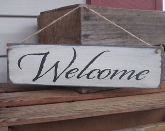 Welcome Sign, Wood Sign, Wreath Sign, Thin Sign, Small sign, Entrance Sign, Door Sign, Porch Sign