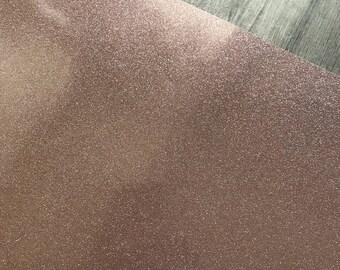 Rose Gold Glitter Vinyl / Rose Gold Glitter Adhesive / Glitter Vinyl / Glitter Adhesive Vinyl / Sparkle Vinyl / Rose Gold Monogram