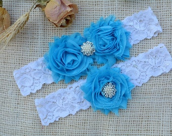 Turquoise Garter, Blue Wedding Garter, Blue Bridal Clothing, Somethig Blue, Garter Bridal, Garter For Brides, Lace Garter Blue, Keep Garters