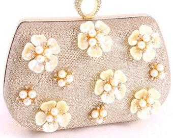 Pearl Glitter Bridesmaid Clutch Bag