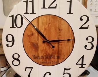22 Inch Shiplap Shabby Chic Clock