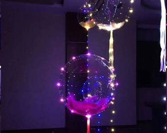 new 1pcs 18/24 inch Clear Bubble Balloon With Led Strip Copper Wire Luminous Led Balloons For wedding Decorations birthday party Supplies