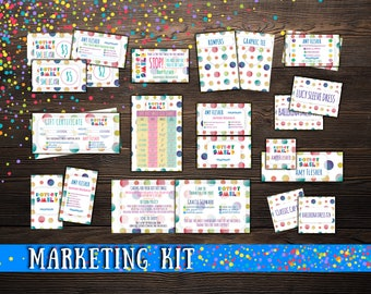 SALE! Dot Dot Smile Marketing Kit, 13 Items! Smile Business cards; dds kit; dotdotsmile: dot smile marketing; dotdotsmile bundle