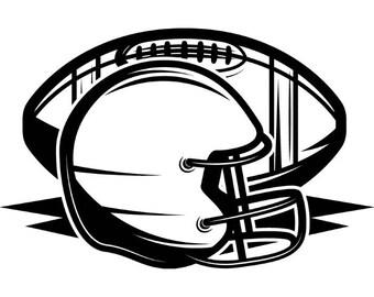 Football helmet svg | Etsy