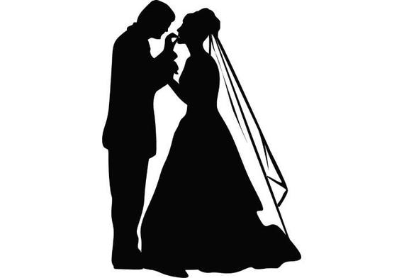 Wedding Couple 1 Love Ceremony Married Bride Groom Cake Dress Gown Reception SVG EPS PNG