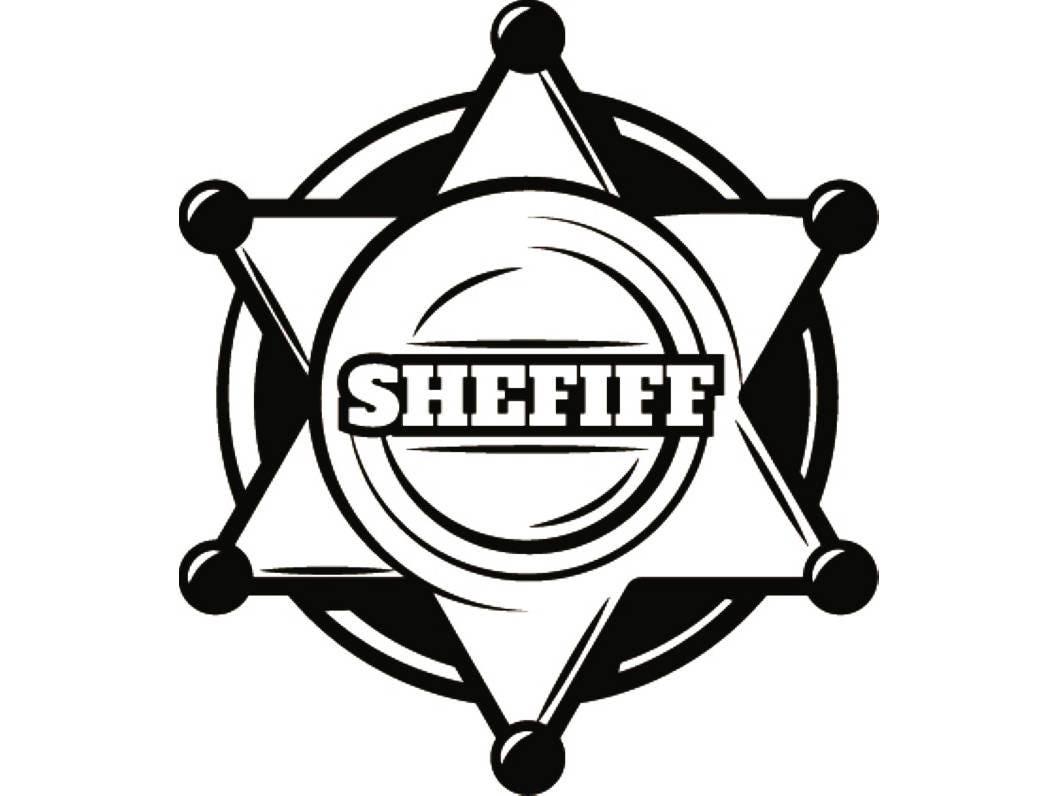 sheriff badge 3 cowboy western rodeo wild west wrangler police