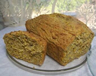 Dandelion Bread baking kit mix - Gluten free option - Honey flower petal gluten dairy free sunflower seed rustic farm wedding loaf wild food