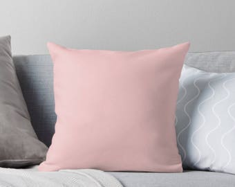 "Solid Pink 18""x18"" Pillow Cover"