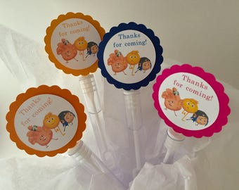 Emoji Birthday Party Favors Bubbles BUBBLE WANDS set of 12