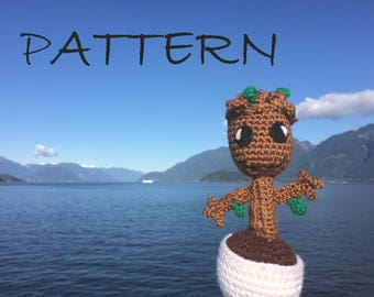 Cuddly Baby Groot Crochet Pattern