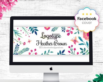 Floral Lula Facebook Cover, Free Customize, Fb Group Photo, For Fashion Retailers/Consultants