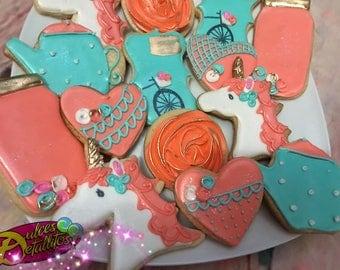 Unicorn + Vintage cookies (12 qty)