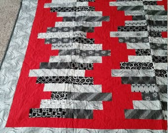Black and Red Wistful Quilt