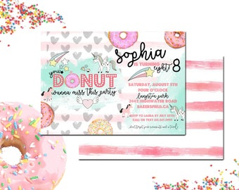 Whimsy Doughnut Party Invite