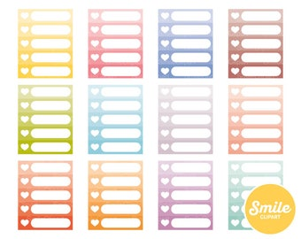 Ombre Checklist Clipart Illustration for Commercial Use | 0411