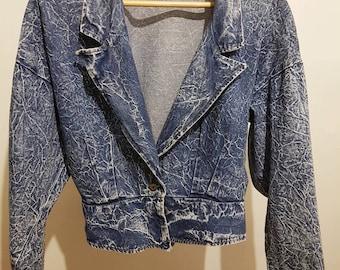 Vintage  80s Denim  Acid Wash Jacket
