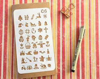 Bullet Journal Stencil #C6 - Planner, Journal, Craft, Scrapbooking, Decoration