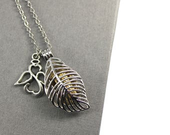 Feather Appear when Angels are Near Locket with urn, Memorial Jewellery, Memorial Locket, Urn Locket, Cremation Jewelry, Cremation necklace,