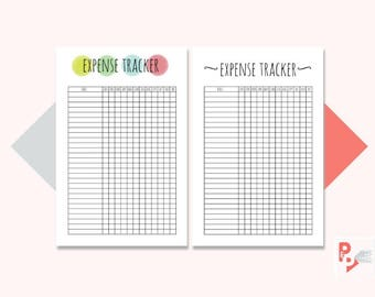 EXPENSE TRACKER Mini Happy Planner Printable Inserts, Create 365, Happy Planner Insert, Happy Planner Mini, MAMBI Planner, Instant Download