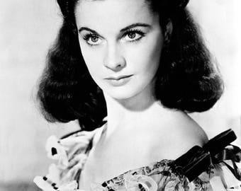 Vivien Leigh 2 Film Actress Glossy Hollywood Black & White Photo Picture Print A4