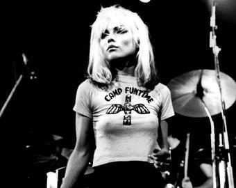 Debbie Harry Blondie New Wave Punk Glossy Black & White Music Print  7X5, 8X10 or A4 Photo