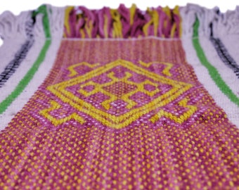 Mapuche weave (Pink, white, yellow)