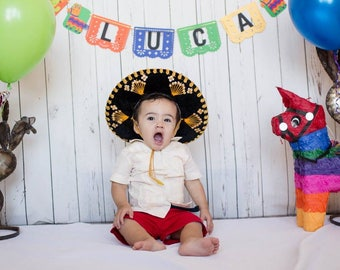 Papal Picado Birthday Banner, Personalized | Boy First Fiesta Banner | First Birthday Decorations