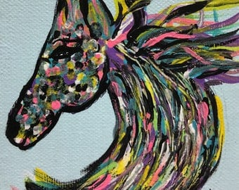 Horse Head Original Painting by CLTreat