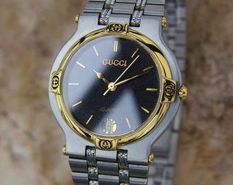 Gucci 9000M Swiss Made Stainless Steel Mens Luxury Dress Watch c2000 Y135