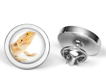 Bearded Dragon Pin - Beardie Brooch - Lizard Jewelry (Lifetime Guarantee) P0071