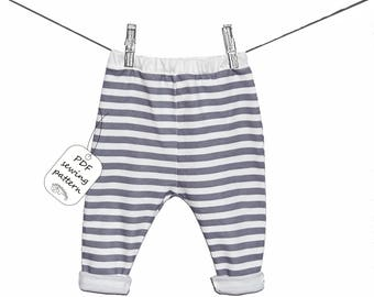 Baby pants pattern PDF download, baby sewing patterns and tutorials, sewing patterns baby